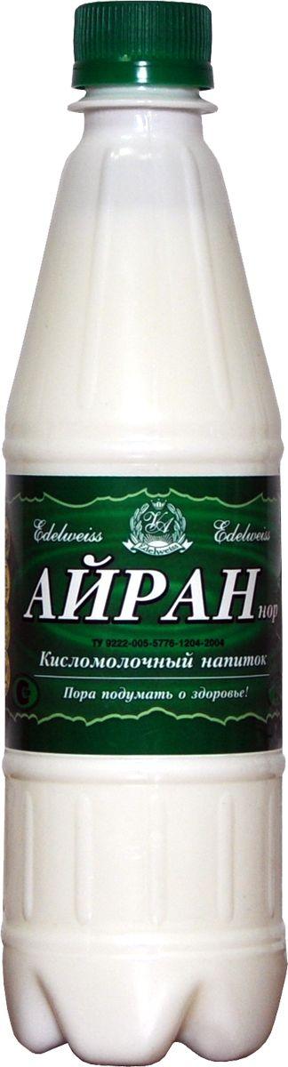 EdelweissАйран напиток кисломолочный 1%, 500 мл  Густой айран служит продуктом питания, разведенный водой...