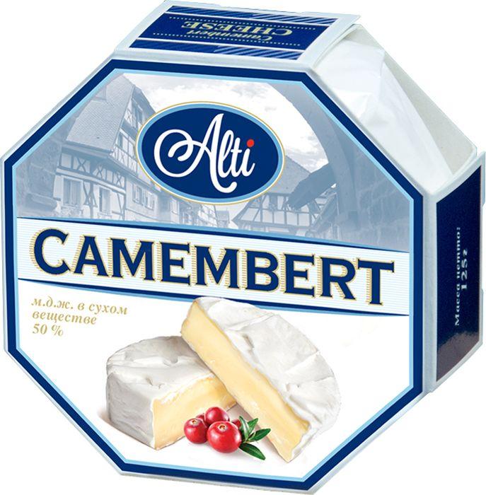 Alti Сыр Камамбер 50%, 125 г ufeelgood organic hemp premium seeds конопляные семена очищенные 150 г