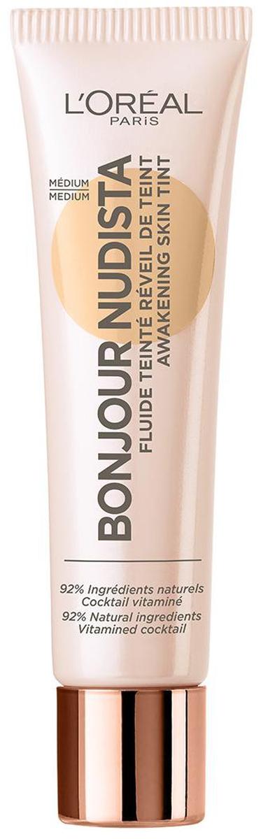 LOreal Paris Тональный BB-флюид для лица Bonjour Nudista, оттенок 03, Натурально-бежевый, 30 млA9477300Тональный bb крем для лица выравнивает тон кожи, создавая невесомое естественное покрытие. В составе 92% ингредиентов натурального происхождения.