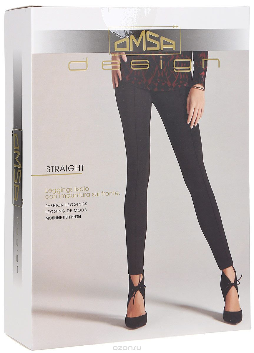 Леггинсы женские Omsa Straight, цвет: серый. SNL-343574. Размер M (46)