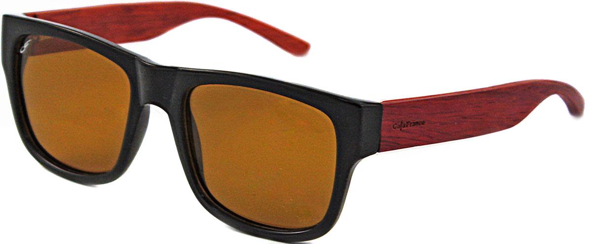 Очки солнцезащитные Cafa France, цвет: черный, красное дерево. CF335831Y