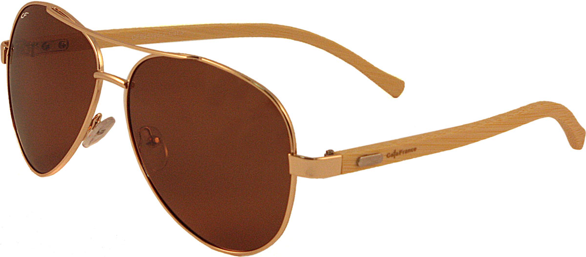 Очки солнцезащитные мужские Cafa France, цвет: золотистый, бежевый. CF995326
