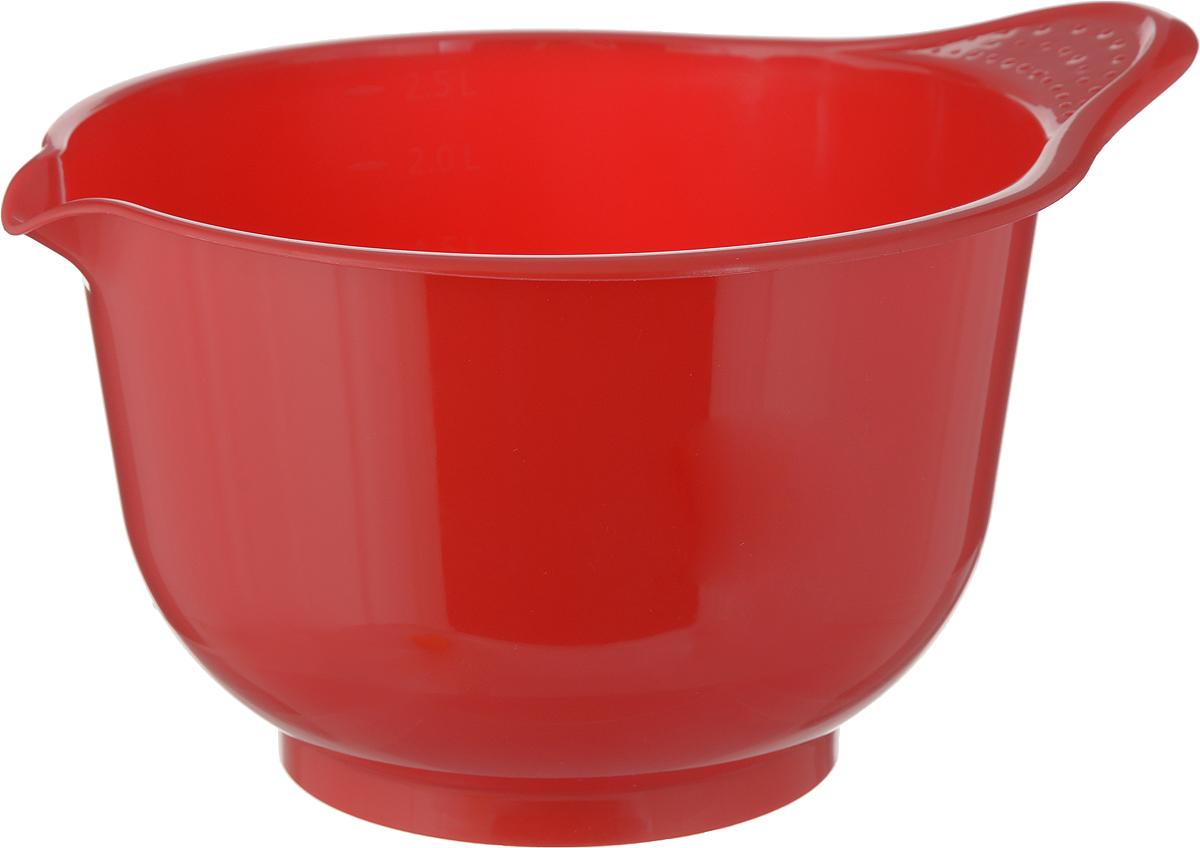 """Миска для миксера Мартика """"Мадена"""", цвет: красный, 2.6 л С437"""