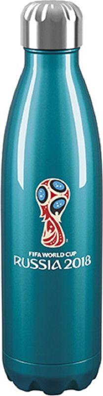 Термобутылка Flameclub Emblem Color 1, цвет: фиолетовый, 0,5 л
