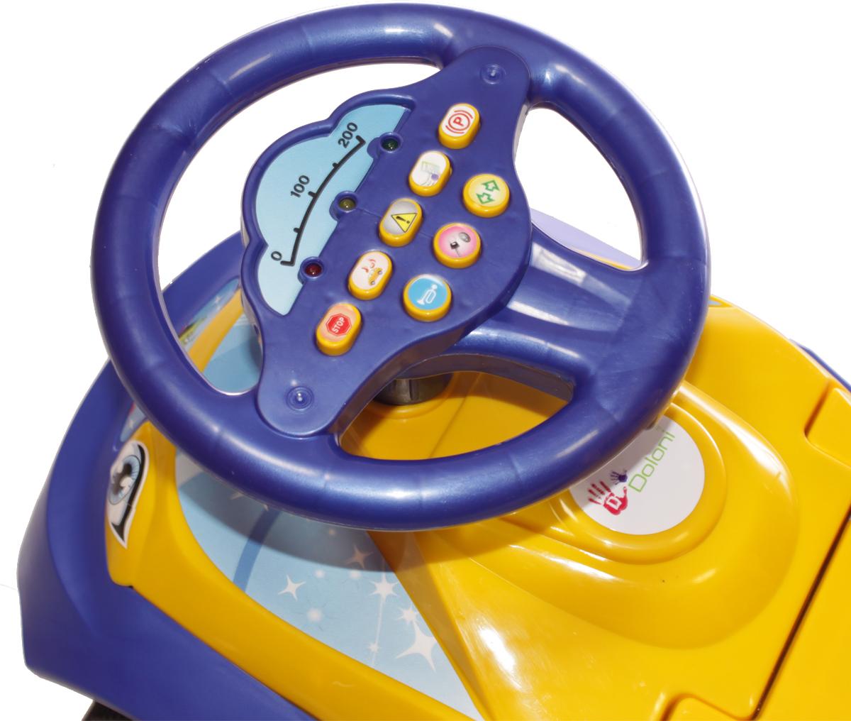 DoloniМашинка-каталка с музыкальным рулем Автошка, цвет фиолетовый желтый Doloni