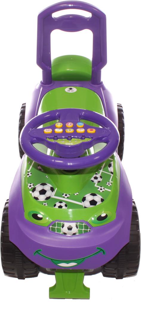 Doloni Машинка-каталка с музыкальным рулем Автошка, цвет фиолетовый зеленый