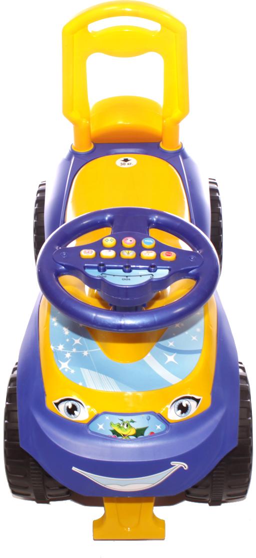 Doloni Машинка-каталка с музыкальным рулем Автошка, цвет фиолетовый желтый - Каталки, понициклы