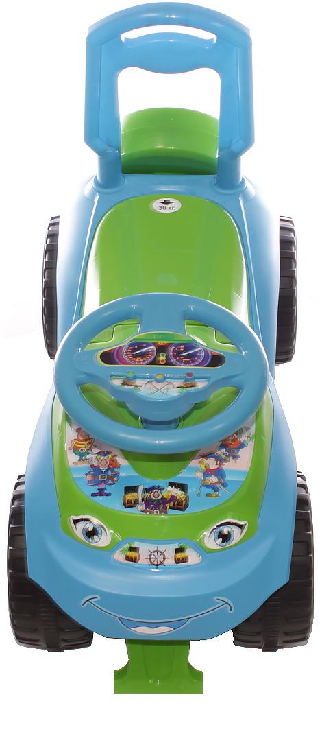 Doloni Машинка-каталка Автошка, цвет голубой зеленый
