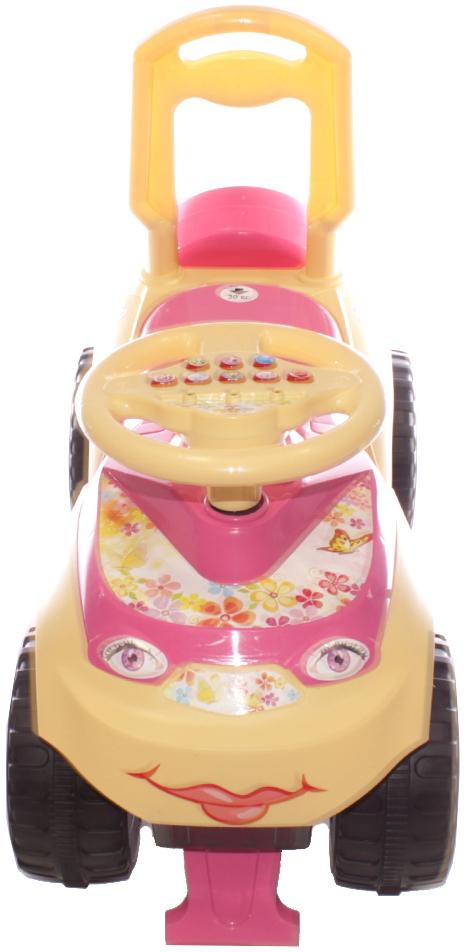 Doloni Машинка-каталка с музыкальным рулем Автошка 0118/R/07 машинка для катания doloni автошка с музыкальным рулем голубой зеленый 0118 06