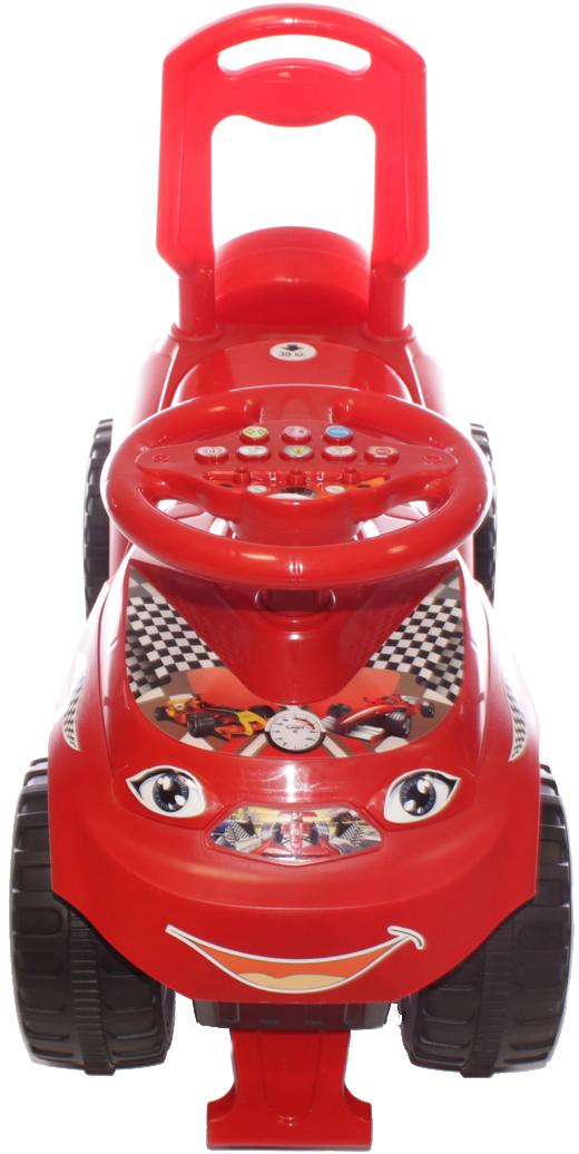 Doloni Машинка-каталка с музыкальным рулем Автошка, цвет красный