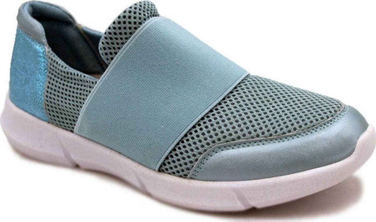Кроссовки для девочки Зебра, цвет: голубой. 12486-6. Размер 3412486-6Эластичный верх; Облегченная подошва; стелька из натуралбной кожи съемная, профилированная