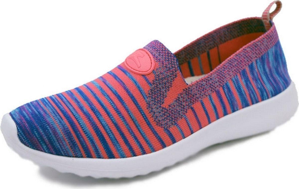 Кроссовки для девочки Зебра, цвет: синий, оранжевый. 12209-20. Размер 37