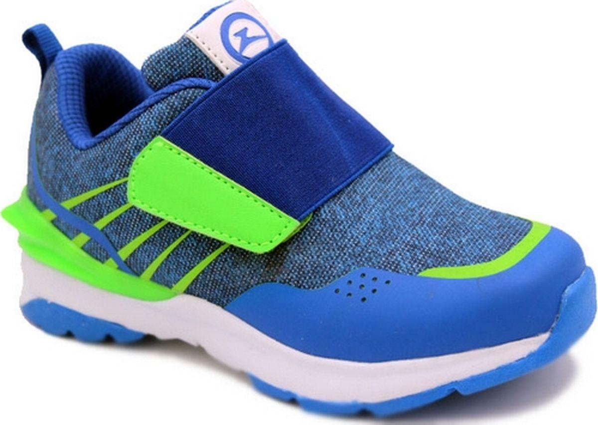 Кроссовки для мальчика Зебра, цвет: голубой. 12480-6. Размер 2512480-6Облегченная подошва; стелька из натуралбной кожи съемная, профилированная