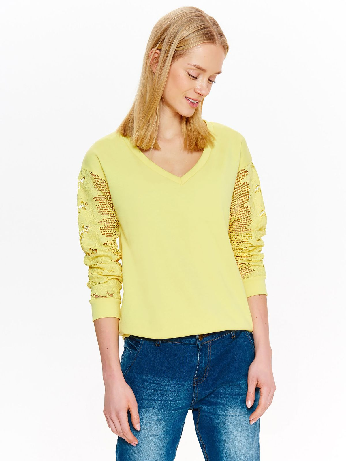Блузка женская Top Secret, цвет: желтый. SBL0573ZO. Размер 38 (46)SBL0573ZO