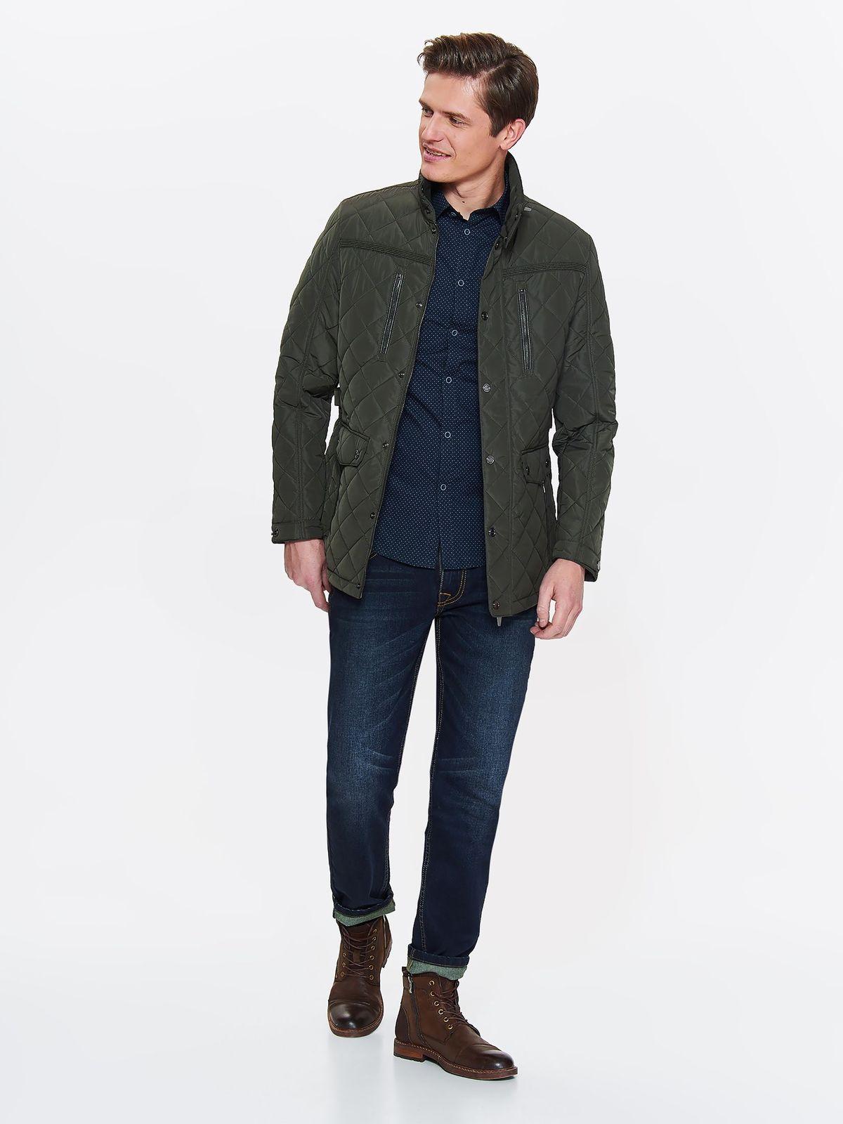 Куртка мужская Top Secret, цвет: зеленый. SKU0851ZI. Размер M (46)SKU0851ZI