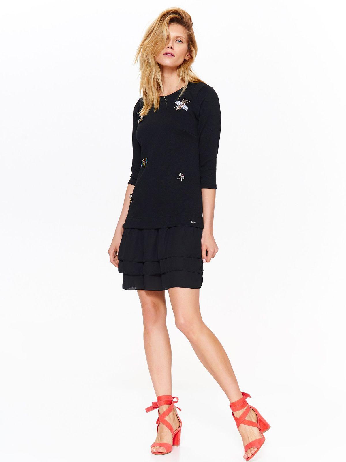 Платье женское Top Secret, цвет: черный. SSU2073CA. Размер 38 (46)SSU2073CA