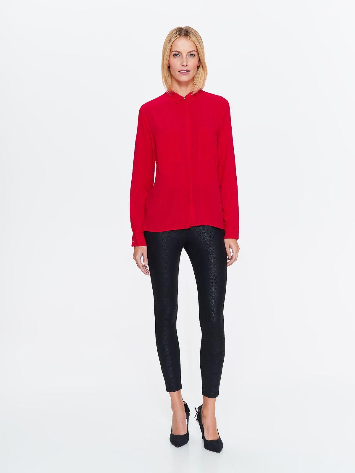 Рубашка женская Top Secret, цвет: красный. SKL2526CE. Размер 34 (42)SKL2526CE