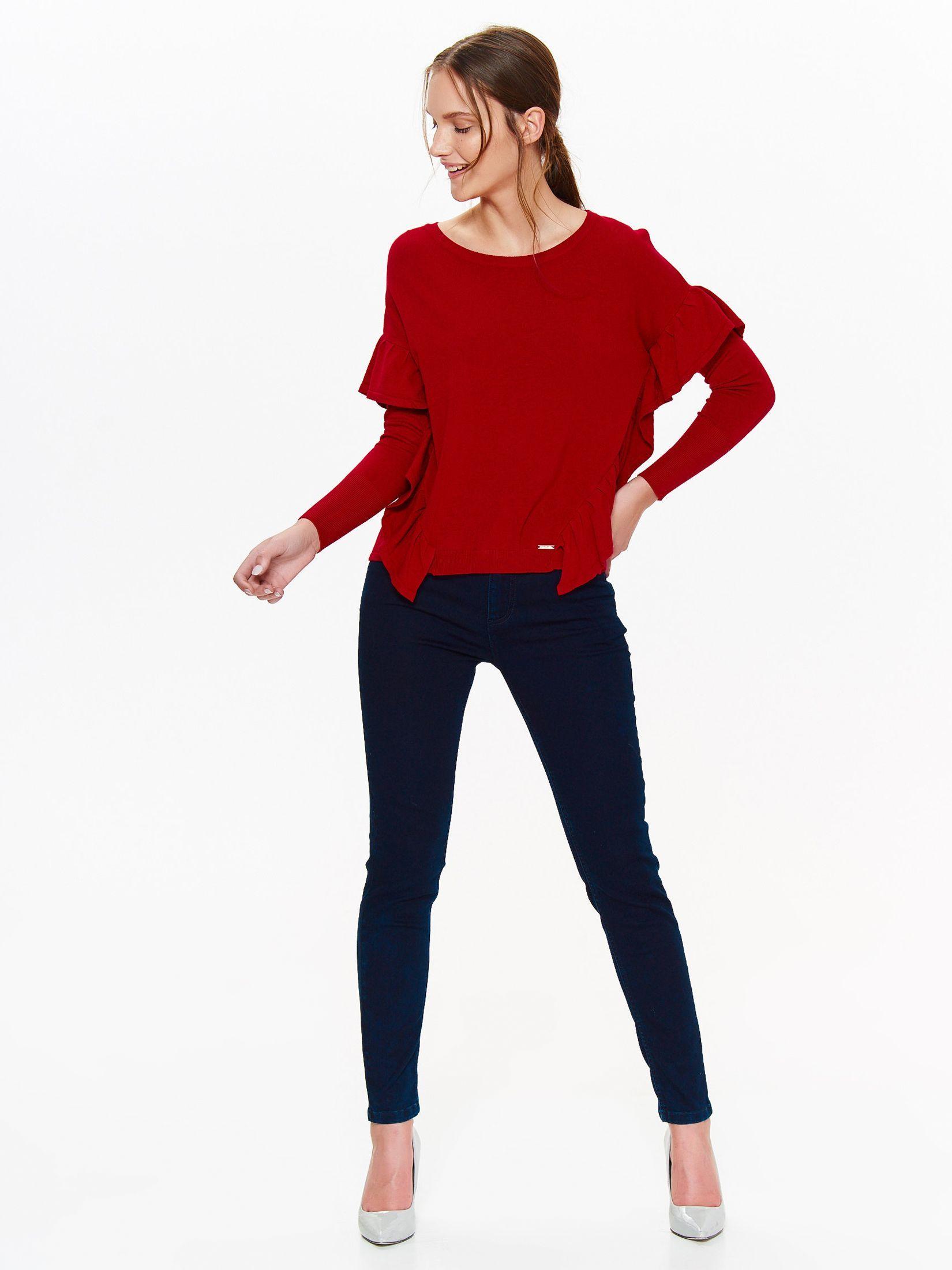 Свитер женский Top Secret, цвет: красный. SSW2303CE. Размер 36 (44)SSW2303CE
