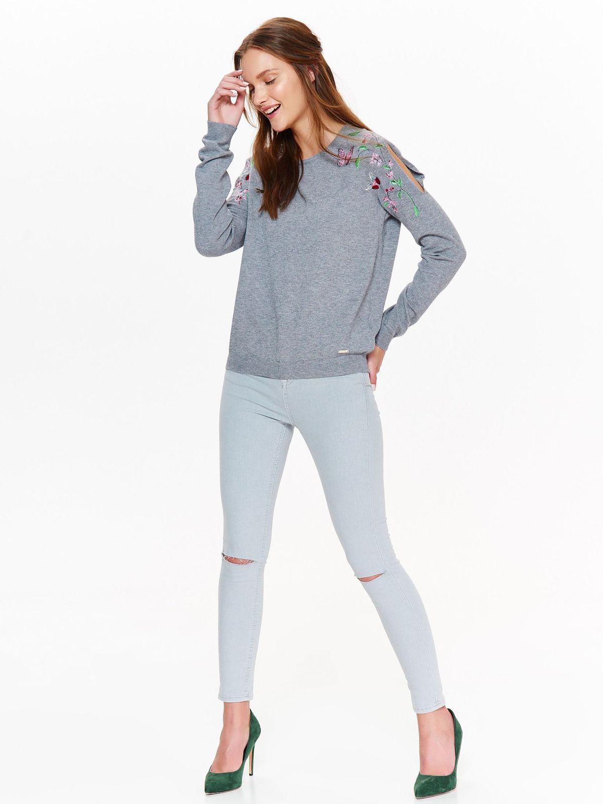 Свитер женский Top Secret, цвет: серый. SSW2320SZ. Размер 36 (44)SSW2320SZ