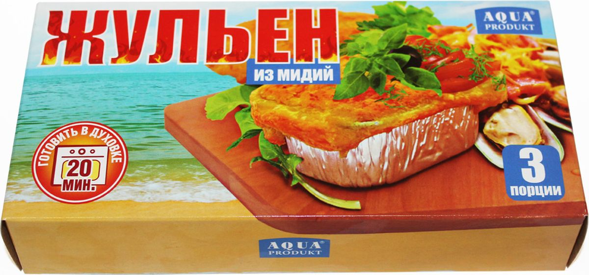 Аквапродукт Жюльен из мидий, 230 г бухта изобилия мясо мидий варено мороженое 500 г