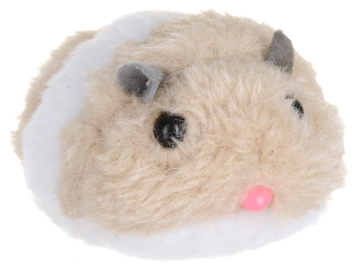 Игрушка для кошек Уют Мышь, вибрирующая, цвет: бежевый, 7,2 см зеркало уют