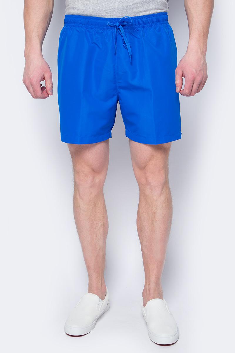 Шорты купальные мужские Calvin Klein Underwear, цвет: синий. KM0KM00170_413. Размер XL (52)KM0KM00170_413Шорты купальные мужские Calvin Klein Underwear выполнены из полиэстера. Модель дополнена затягивающимся шнурком.