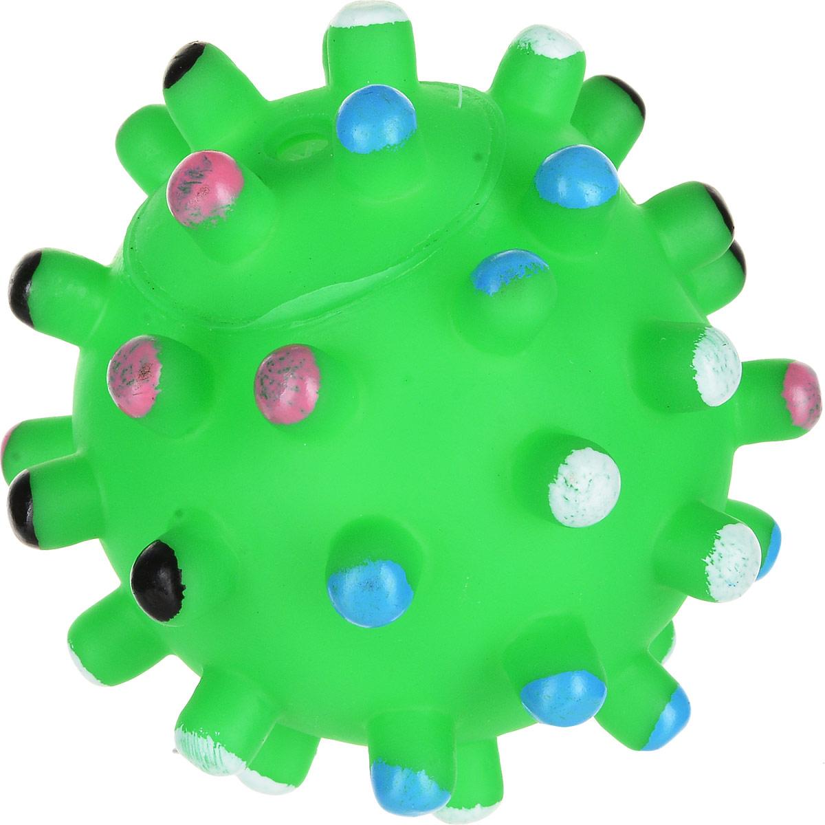 Игрушка для собак Уют Мяч мина, цвет: салатовый, 10 см уют