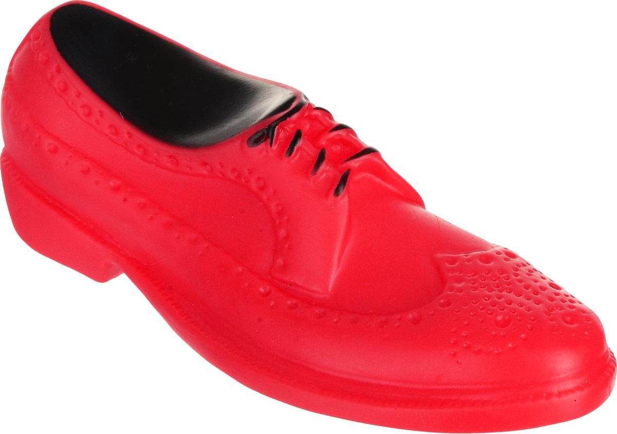 Игрушка для собак Уют Мужской туфель, цвет: красный, 16 x 6 x 5,2 см игрушка для собак уют кеды цвет зеленый 10 x 5 x 4 см