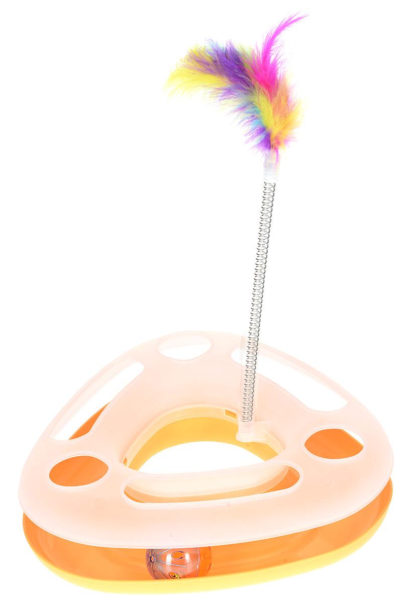Игрушка для кошек №1  Лабиринт , с дразнилкой, цвет: желтый - Игрушки