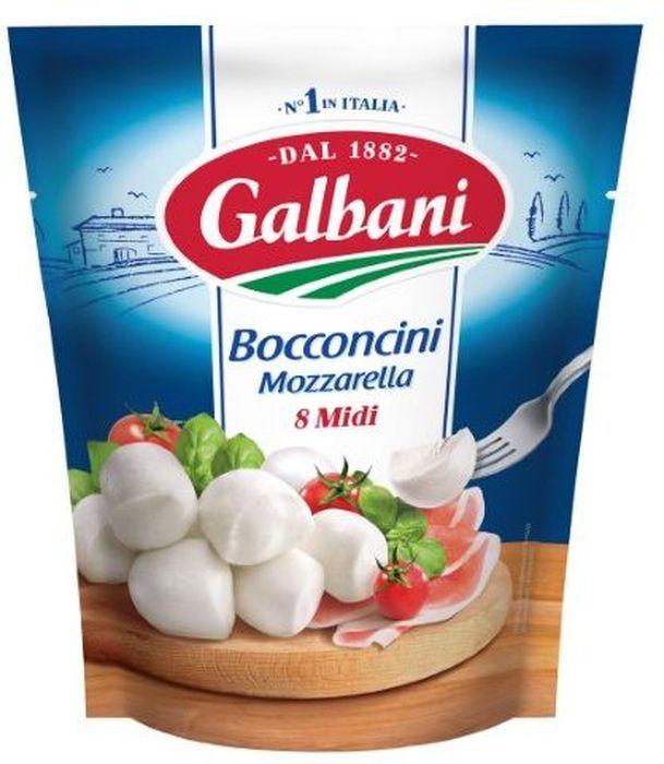 Galbani Сыр Моцарелла Боккончини 45%, 8 шт по 25 г galbani сыр маскарпоне 80% 250 г