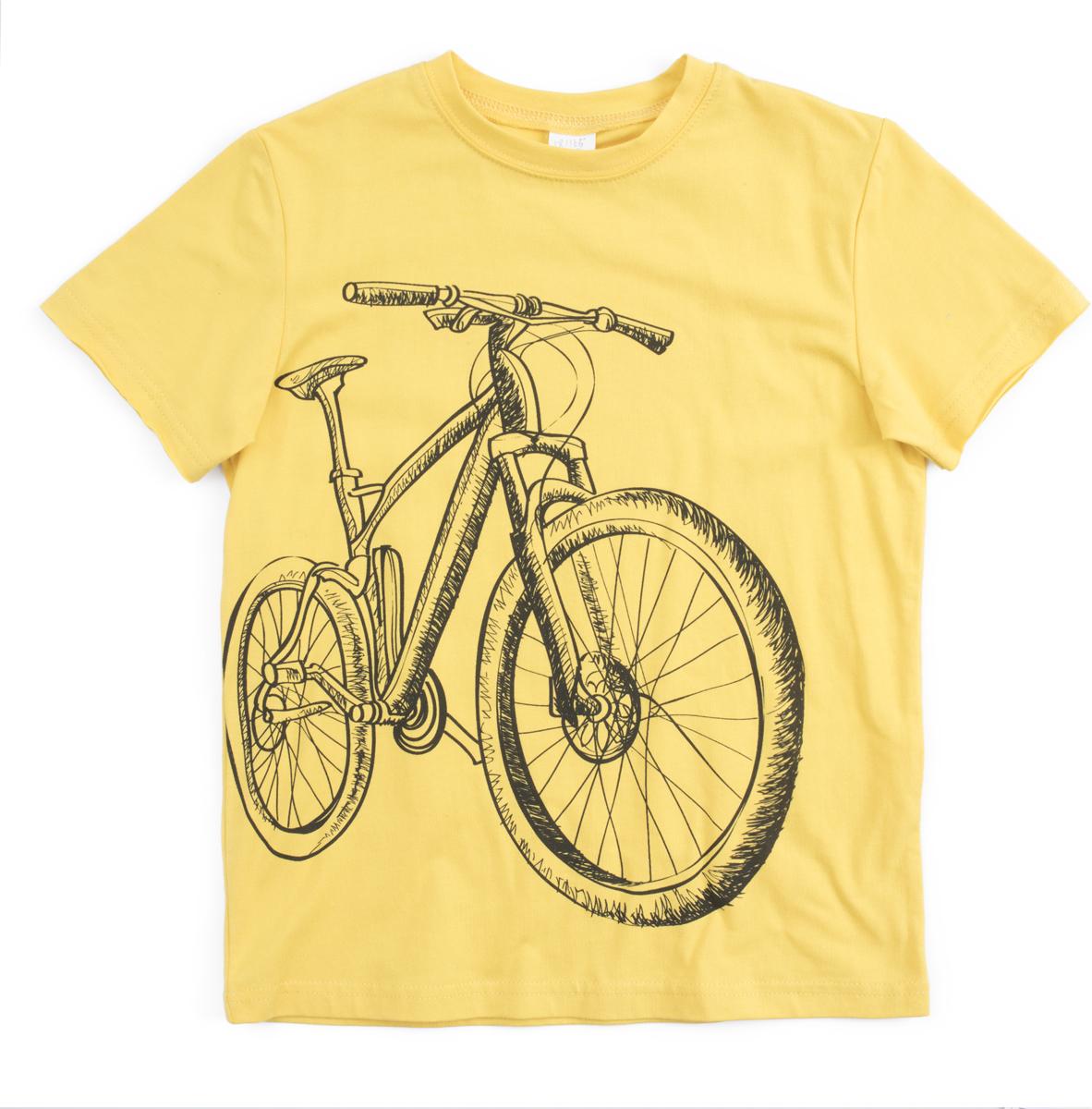 Футболка для мальчика PlayToday, цвет: желтый, темно-серый. 181165. Размер 122181165Футболка PlayToday выполнена из натуральной хлопковой ткани. Горловина оформлена мягкой трикотажной резинкой. В качестве декора использован яркий принт