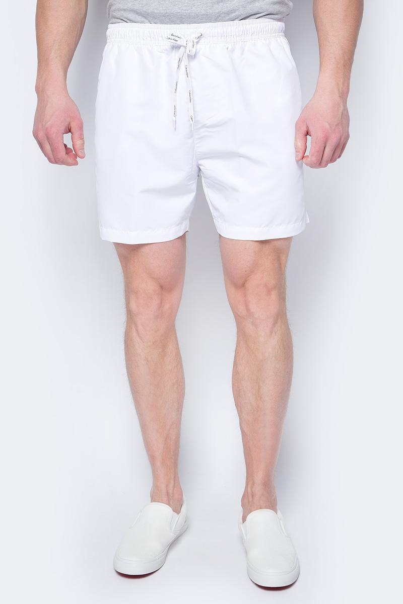Шорты купальные мужские Calvin Klein Underwear, цвет: белый. KM0KM00169. Размер L (50)KM0KM00169