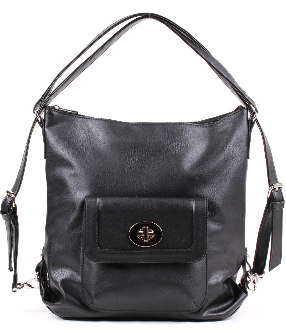 Сумка-рюкзак женская Медведково, цвет: черный. 18с0059-к14