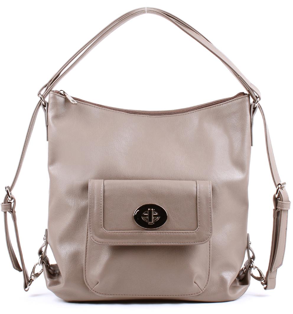 Сумка-рюкзак женская Медведково, цвет: бежевый. 18с2019-к14 рюкзак детский proff жесткий говорящий том 38 29 21 см с 1 отделением на замке