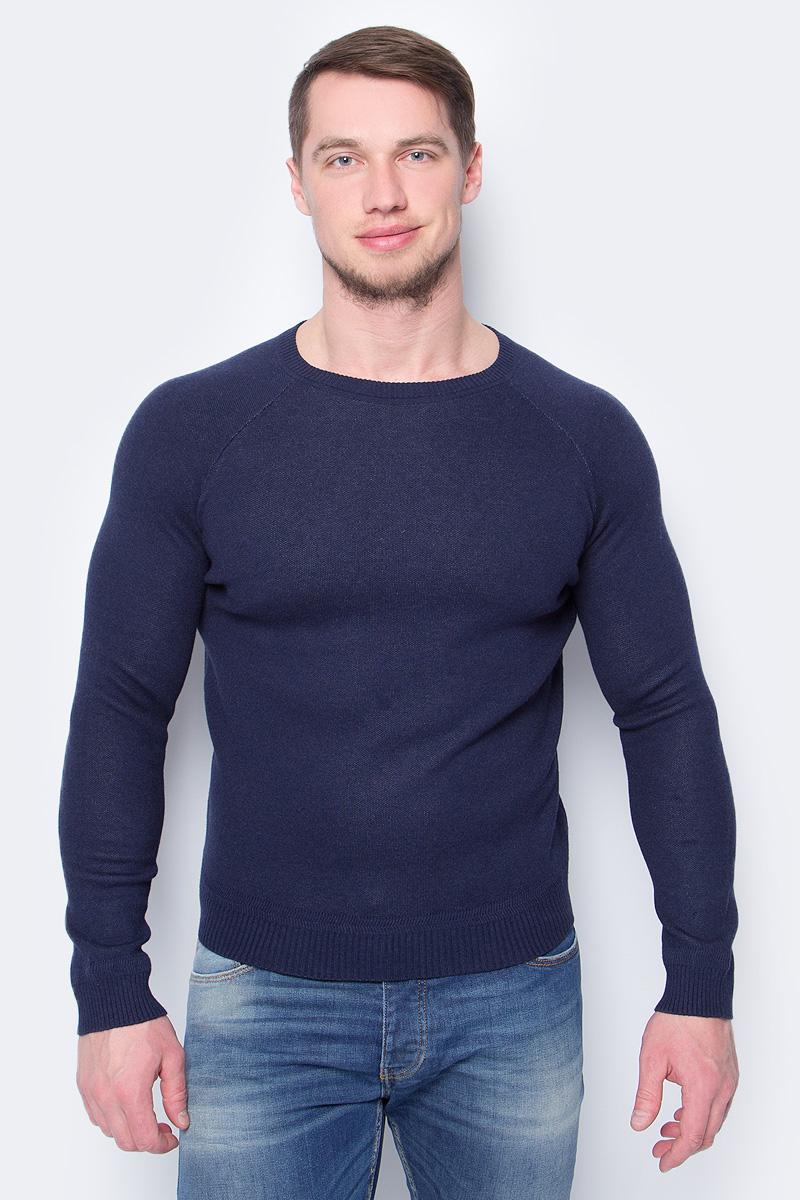 Пуловер мужской United Colors of Benetton, цвет: темно-синий. 12EAU1F36_66U. Размер L (50/52) пуловер united colors of benetton united colors of benetton un012ewabyz6