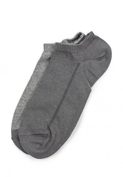 Носки мужские Levi's®, цвет: серый, 2 пары. 7731903930. Размер 35 jd коллекция светло телесный 12 пар носков 15d две кости размер