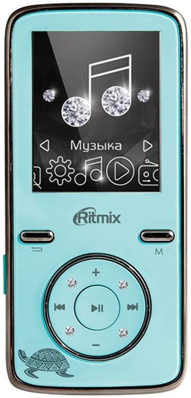Ritmix RF-4850 8Gb, Sky Blue MP3-плеер mp3 плеер ritmix rf 4850 8gb sky blue