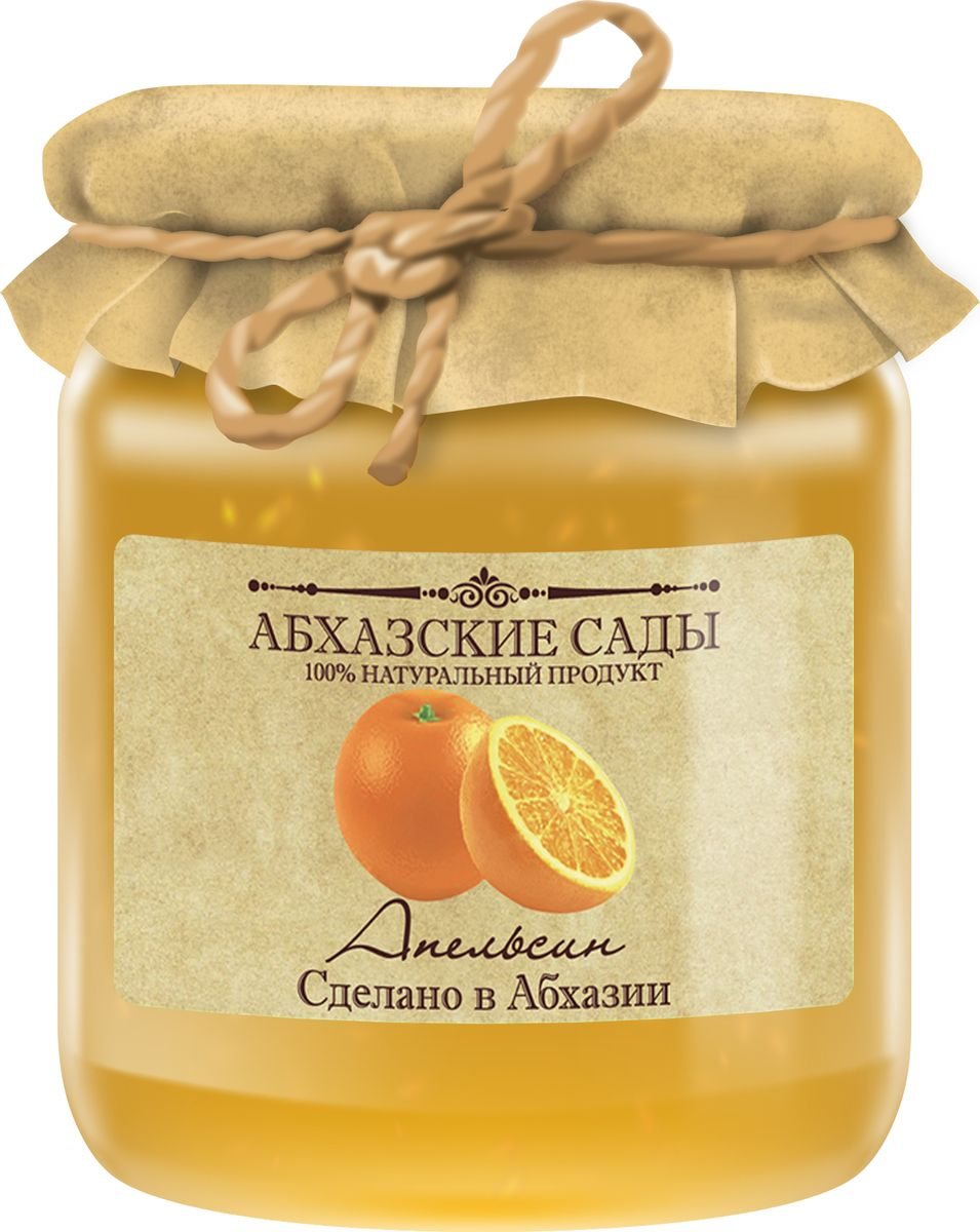 Абхазские сады Джем апельсин, 300 г
