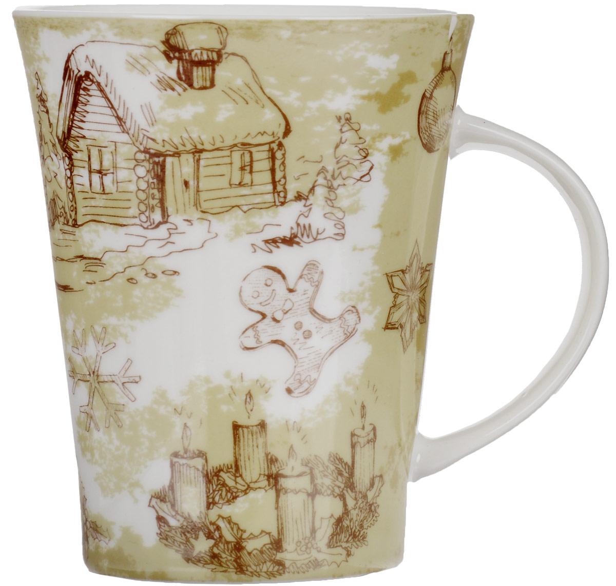 """Кружка Family & Friends """"Christmas Village"""" изготовлена из  качественной глазурованной керамики. Внешняя стенка  изделия декорирована оригинальным рисунком  новогодней тематики. Такая кружка согреет вас  горячим напитком и станет неизменным атрибутом  чаепития.  Не рекомендуется использовать в микроволновой печи и  мыть в посудомоечной машине."""