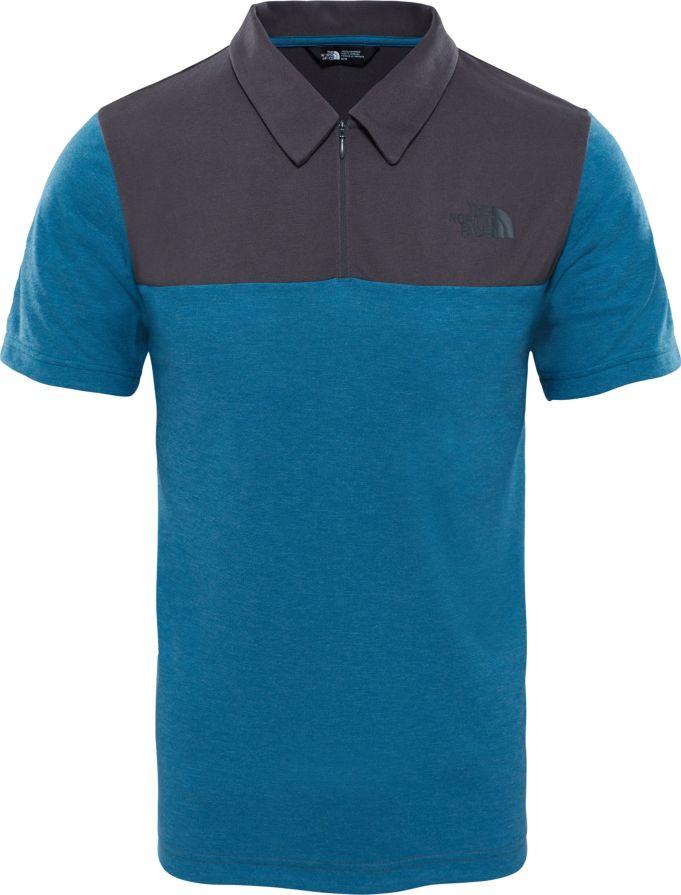 Поло мужское The North Face M S/S Technical Polo, цвет: синий, серый. T0CED32WK. Размер XXL (56) цепочка с подвеской navell цвет золотой серебро