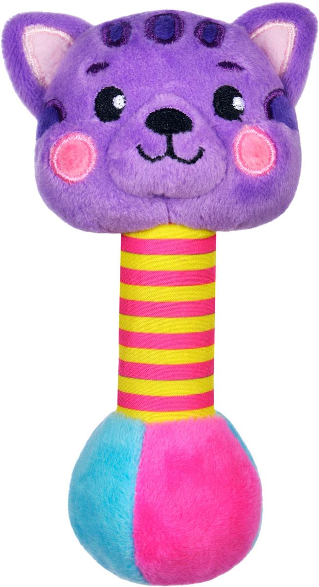 Жирафики Погремушка Котик со звуком погремушка котёнок