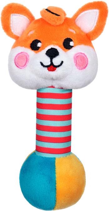 Жирафики Погремушка Лисенок со звуком жирафики набор игрушек для ванной лисенок и зайчонок