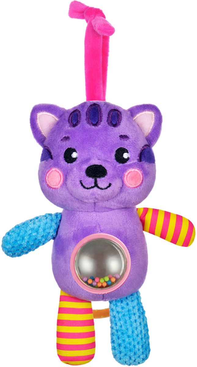 Жирафики Подвеска-погремушка Котенок музыкальная с зеркальцем погремушка подвеска шарики