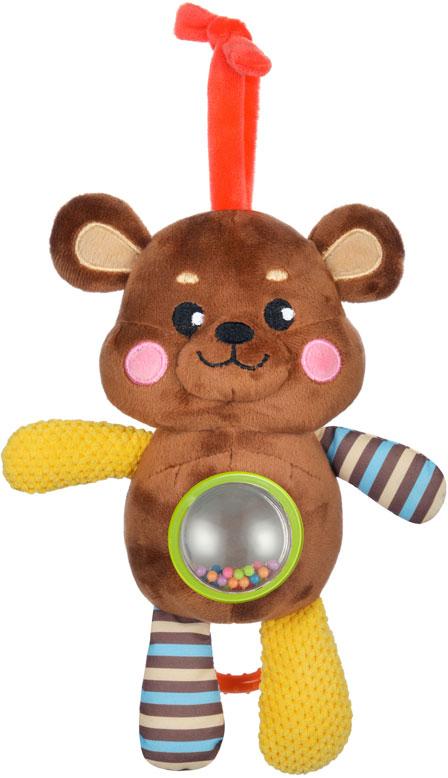 Жирафики Подвеска-погремушка Мишка музыкальная с зеркальцем погремушка подвеска шарики