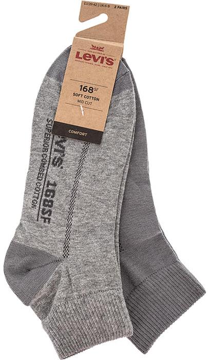 Носки мужские Levis®, цвет: серый, 2 пары. 7731904110. Размер 397731904110
