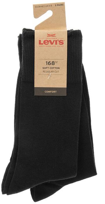 Носки мужские Levi's®, цвет: черный, 2 пары. 7731908900. Размер 39 jd коллекция светло телесный 12 пар носков 15d две кости размер