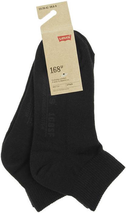 Носки мужские Levi's®, цвет: черный, 2 пары. 7731904150. Размер 43 jd коллекция светло телесный 12 пар носков 15d две кости размер