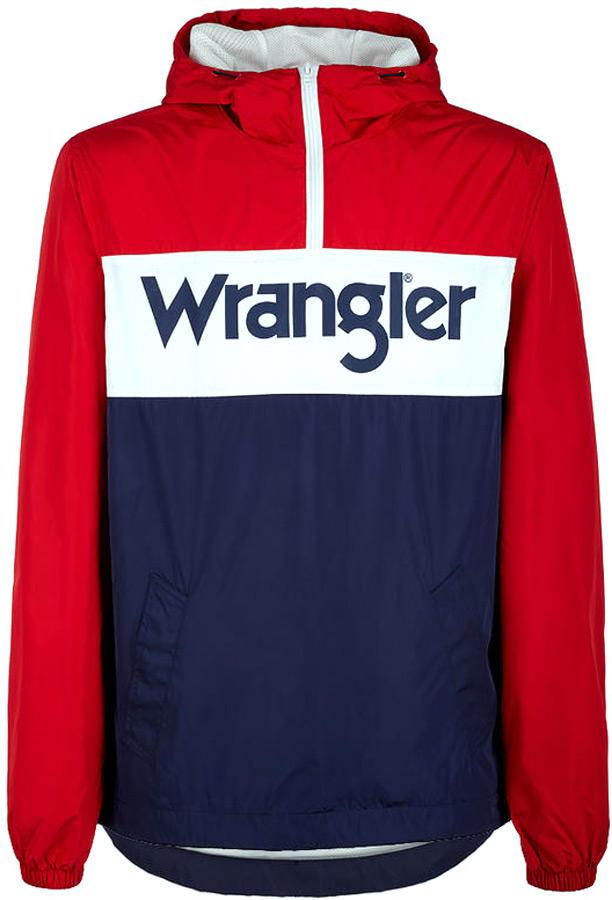 Куртка мужская Wrangler, цвет: красный, белый, синий. W4706V9UU. Размер XXL (54)