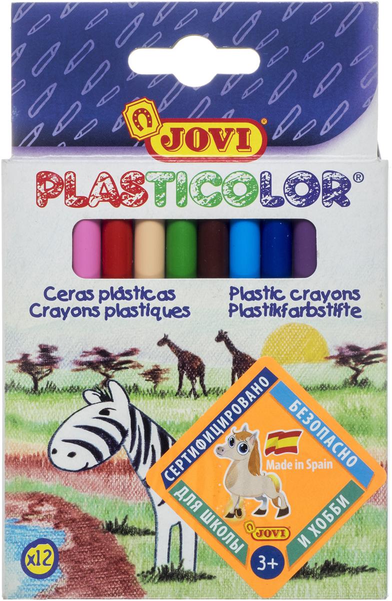Jovi Карандаши пластиковые круглые 12 цветов карандаши восковые мелки пастель jovi карандаши пластиковые круглые 12 цветов