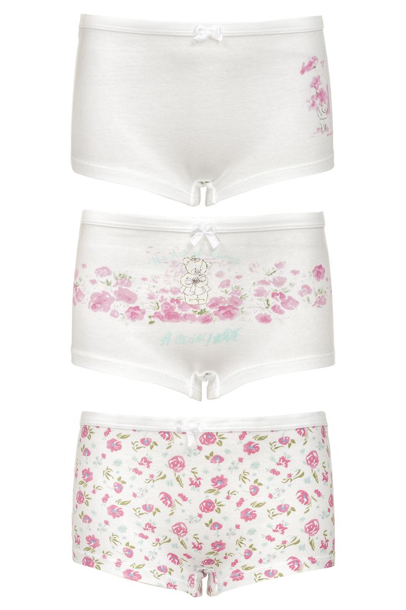 Трусы-шорты для девочки Baykar, цвет: мультиколор, 3 шт. N5504_22. Размер 110/116N5504_22